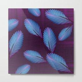 Tillandsia in dark purple Metal Print