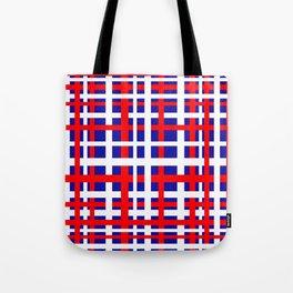 Patriotic Interlocking Stripes Tote Bag