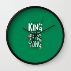 The King of Ping Pong Wall Clock
