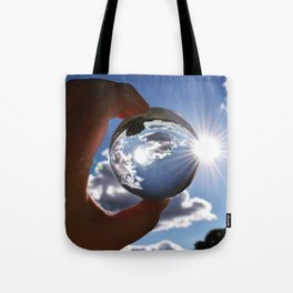 The World in Our Fingertips Tote Bag