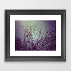 lilac in the air Framed Art Print