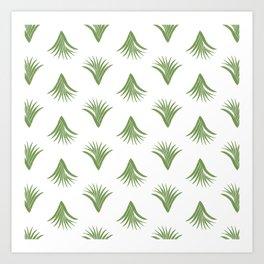 Pandanus Leaf Pattern - Green Art Print