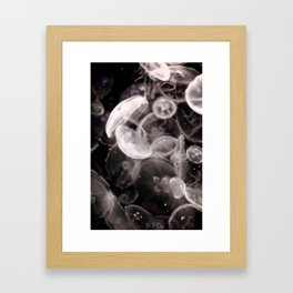 Jellyfish Glow Framed Art Print