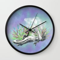 trex Wall Clocks featuring weed trex by raulovsky (Raúl Ramos Melo)