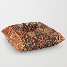Floral Persian Bakhtiari Rug Print Floor Pillow