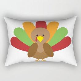 Cute Thanksgiving turkey Rectangular Pillow
