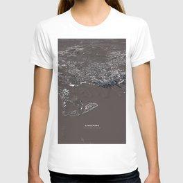 Singapore City Map T-shirt