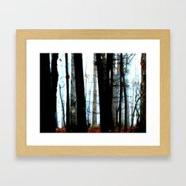 Foggy Wood Framed Art Print