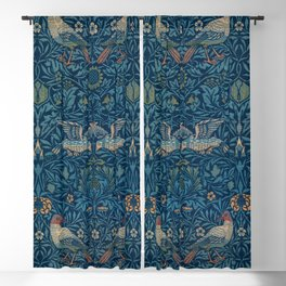 "William Morris ""Birds"" 1. Blackout Curtain"