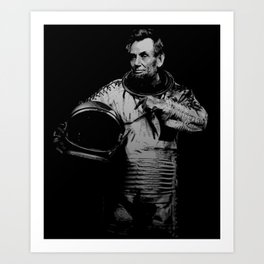 Astronaut Abe Art Print