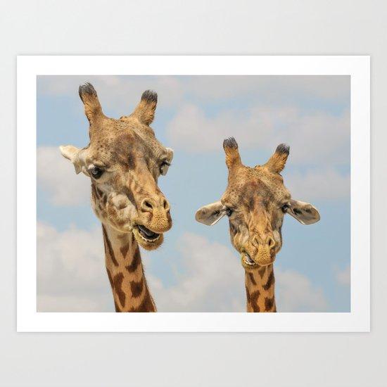 Giraffe Joe Art Print