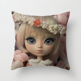 Innocent girl Throw Pillow