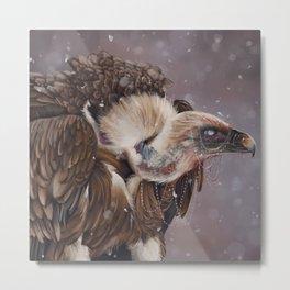 Necrophagy: Griffon Vulture Metal Print