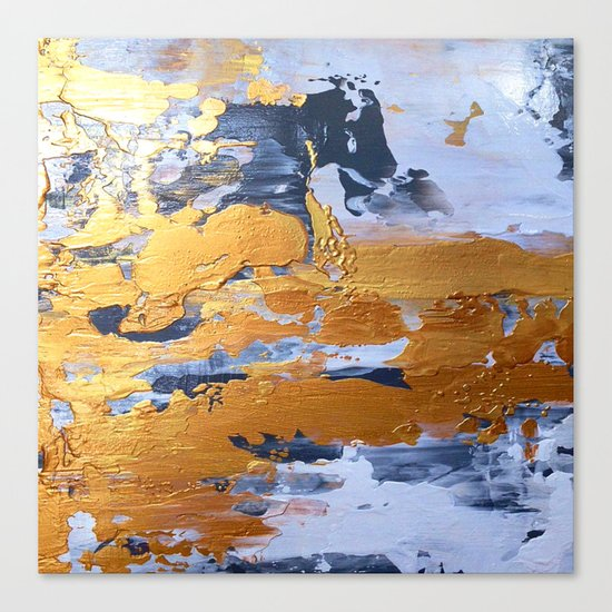 Gold in the ice Canvas Print