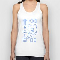 whiskey Tank Tops featuring Whiskey Cave by CAZA Creative