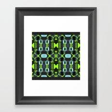 Cyber Mesh Framed Art Print