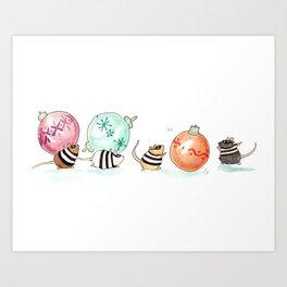 Ornament Heist Art Print