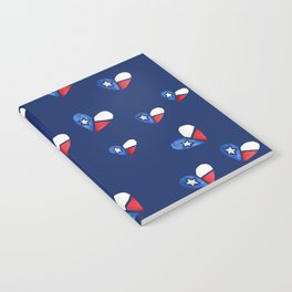 Lone Star State Texas Flag Heart Notebook