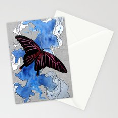 Butterfly II ink by carographic, Carolyn Mielke Stationery Cards