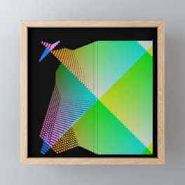 RGB (red gren blue) pixel grid planes crossing at right angles Framed Mini Art Print