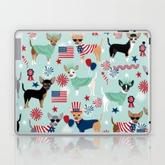 Chihuahua fourth of july patriotic america summer dog gifts home decor chihuahuas Laptop & iPad Skin