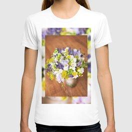 Bridal freesia bouquet wedding flowers T-shirt
