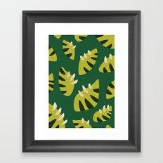 Pretty Clawed Green Leaf Pattern Framed Art Print