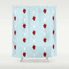 Hannibal Stag & Hearts Shower Curtain