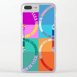 Fibonacci Day, Typographic Clear iPhone Case