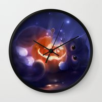 pumpkin Wall Clocks featuring Pumpkin by apofiss