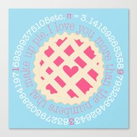 pi Canvas Prints featuring Pi  by inkextract