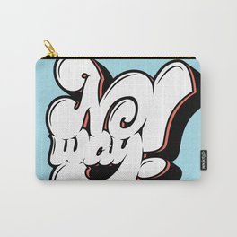 No Way Lettering Carry-All Pouch