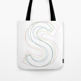 Intertwined Strength and Elegance of the Letter S Tote Bag