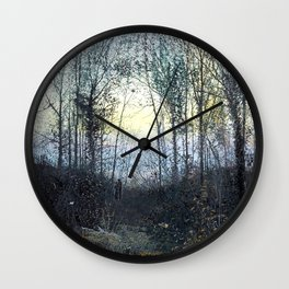 John Atkinson Grimshaw - Lovers in a Woodland Clearing - Victorian Retro Vintage Painting Wall Clock