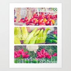 Farm Fresh Montage Art Print