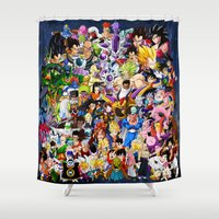 dragonball z Shower Curtains featuring DragonBall Z - Insane amount of Characters by Mr. Stonebanks