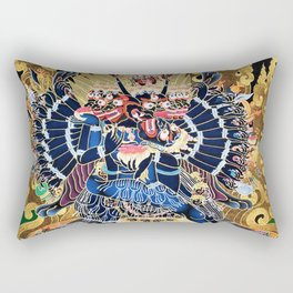 Buddhist Vajrabhairava Demon Deity 4 Rectangular Pillow