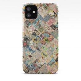 Vintage Japanese matchbox collage iPhone Case