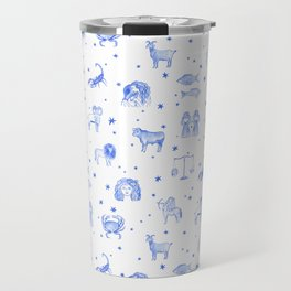 Blue Zodiac Travel Mug