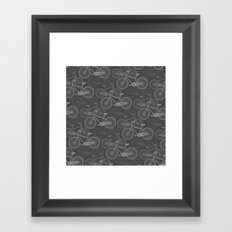 Jazz Album/Track 4 - B&W  Framed Art Print