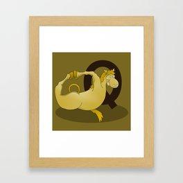 Monogram Q Pony Framed Art Print
