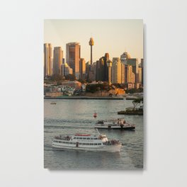 Cruising Sydney Harbour Metal Print