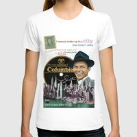 frank sinatra T-shirts featuring Frank Sinatra - New York by Dots Studio