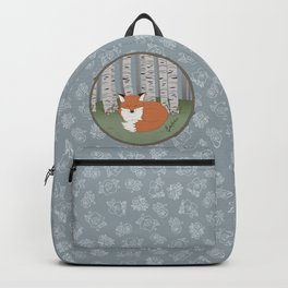 Little Fox in a Little Forest Backpack