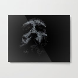 53…a bearded face Metal Print
