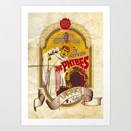Dr. Phibes Locust Lager Art Print
