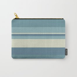 Horizontal Stripes - Muted Blue Carry-All Pouch