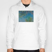 monet Hoodies featuring Claude Monet Wisteria by Elegant Chaos Gallery
