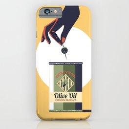 Olive oil vintage poster greece iPhone Case