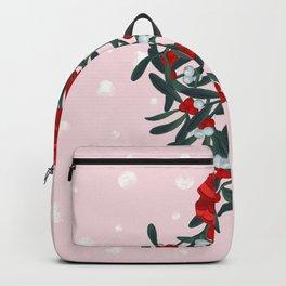 Elegant Mistletoe Holiday Design Backpack